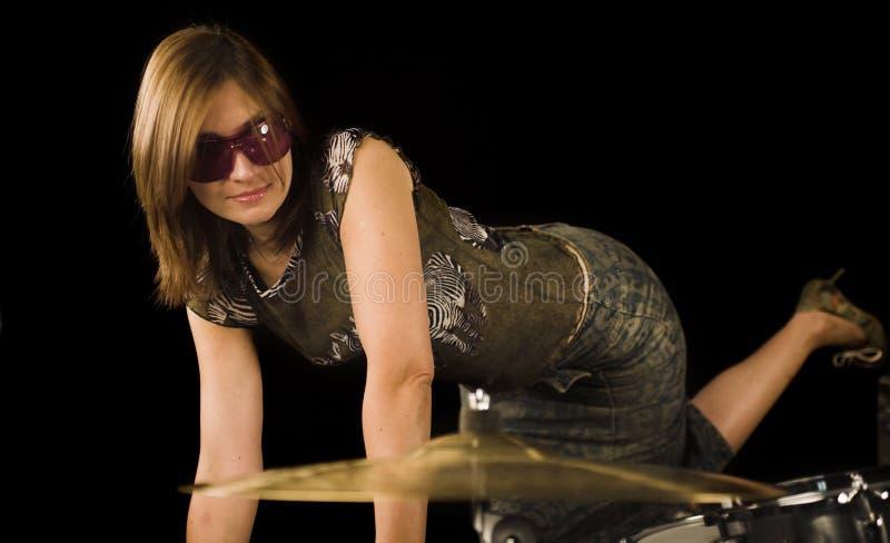 Vrouw met uitdrukking royalty-vrije stock afbeelding