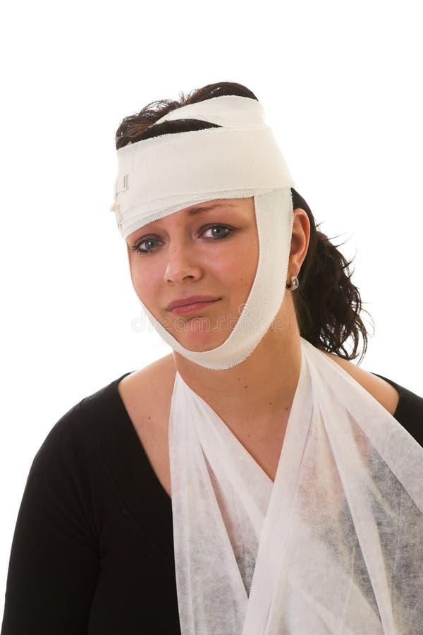 Vrouw met verwondingen royalty-vrije stock foto's