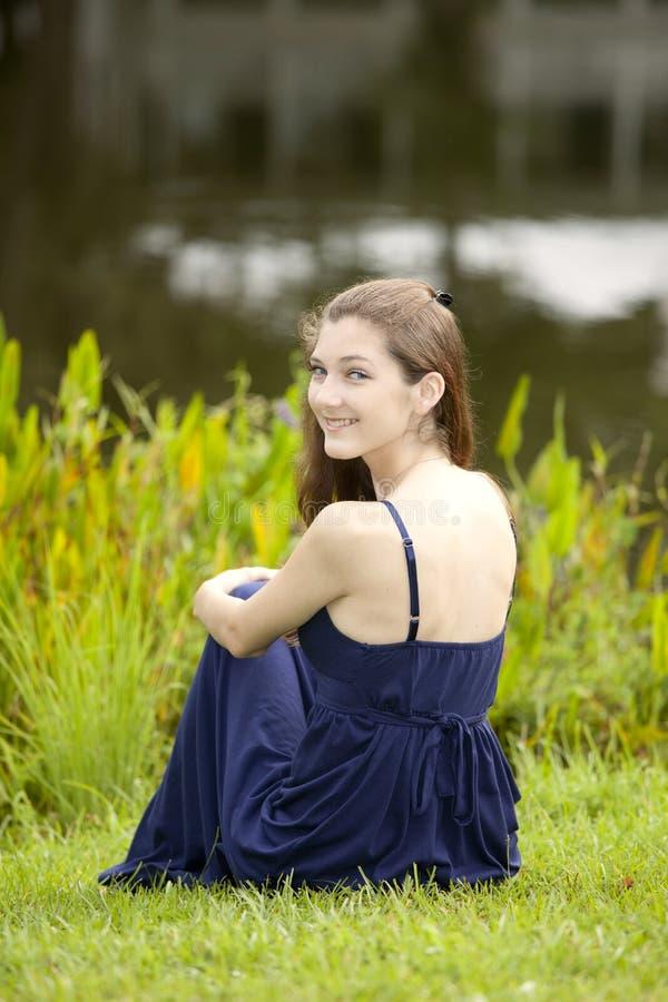 Vrouw met vlotte huid royalty-vrije stock foto