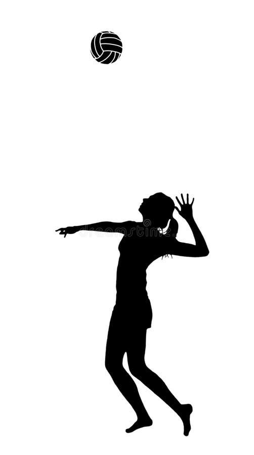 Vrouw met volleyball royalty-vrije illustratie