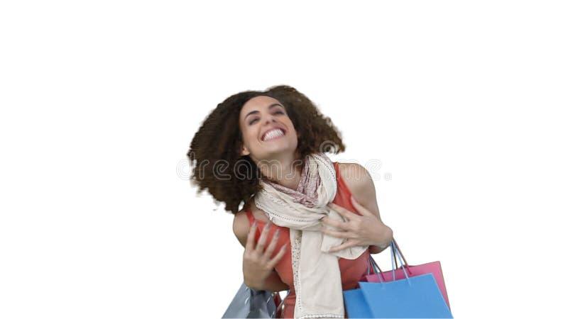 Vrouw met zakken het winkelen in haar handen