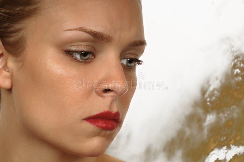 Vrouw met Zorg stock foto's