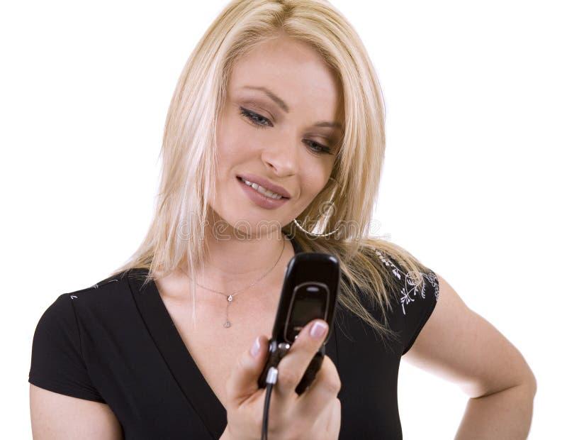 Vrouw op de telefoon royalty-vrije stock foto's