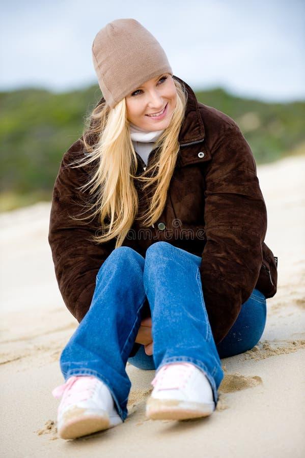 Vrouw op Strand stock foto