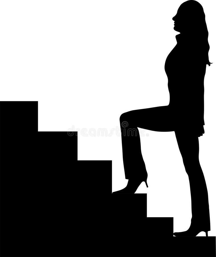 Vrouw op treden vector illustratie