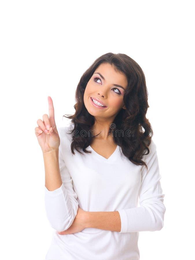 Vrouw op wit stock foto's