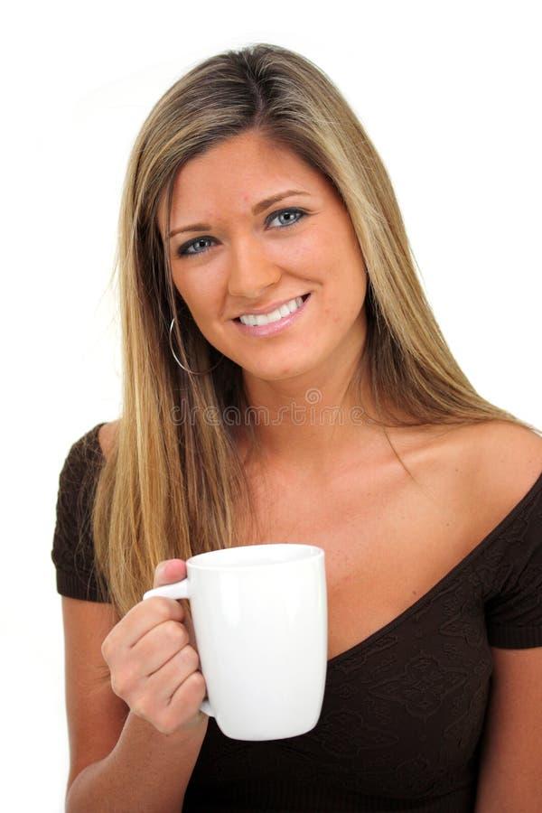 Vrouw op Witte Achtergrond stock afbeeldingen