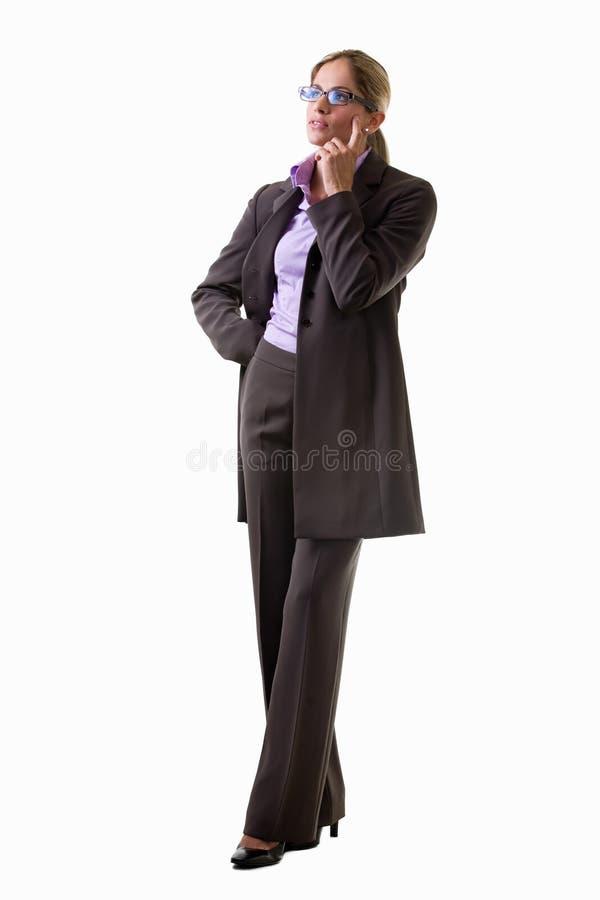 Vrouw in pak stock afbeelding