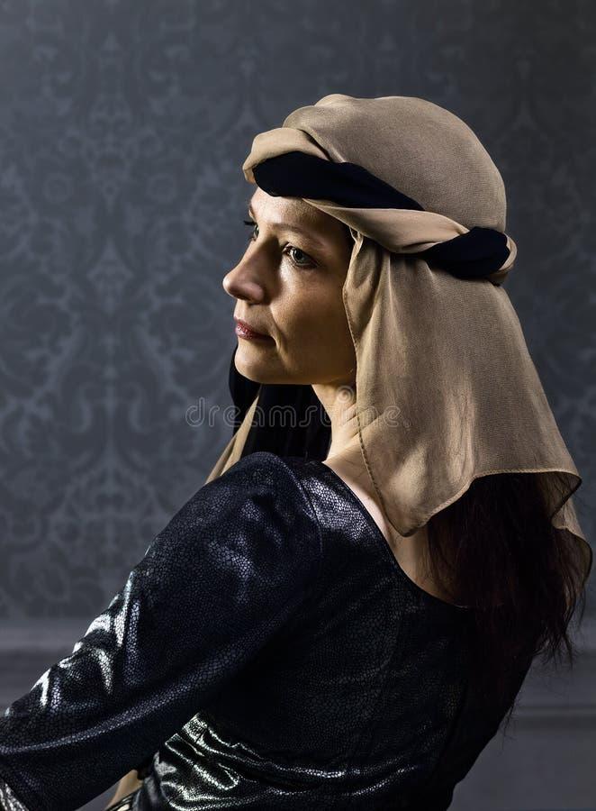 Vrouw in Renaissancekleding royalty-vrije stock foto's