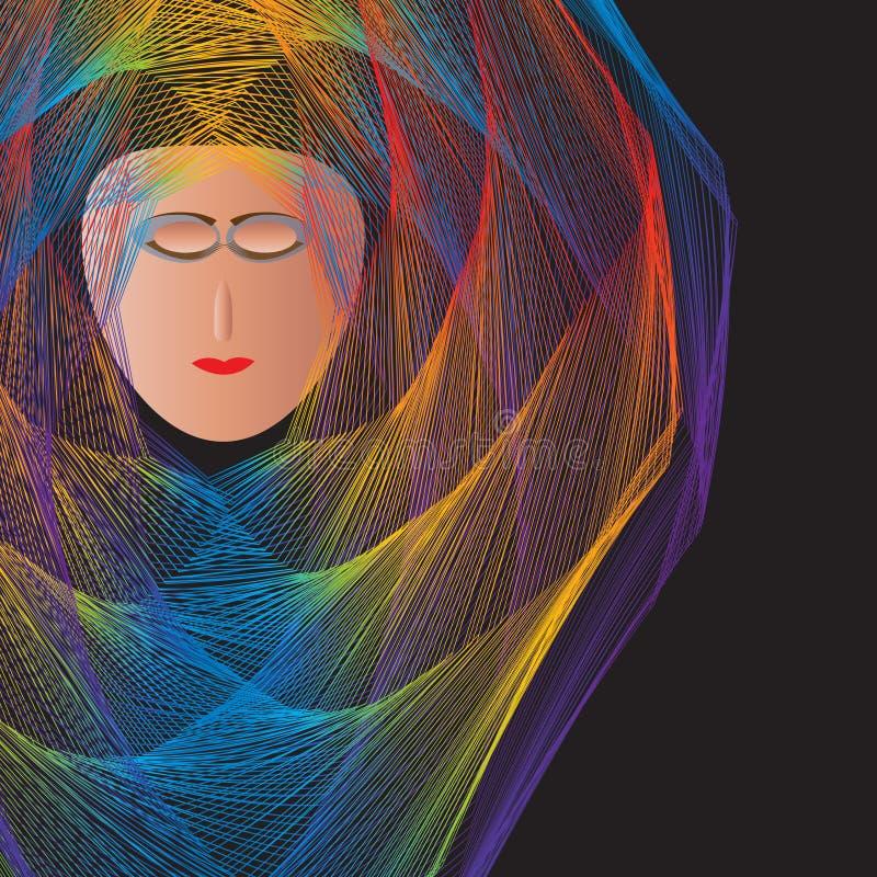 Vrouw in Robes vector illustratie