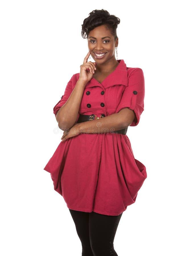 Vrouw in rood royalty-vrije stock afbeeldingen