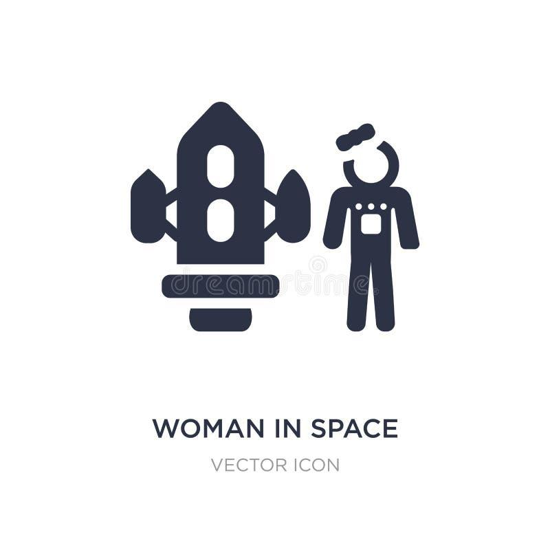 vrouw in ruimtepictogram op witte achtergrond Eenvoudige elementenillustratie van Vervoerconcept royalty-vrije illustratie
