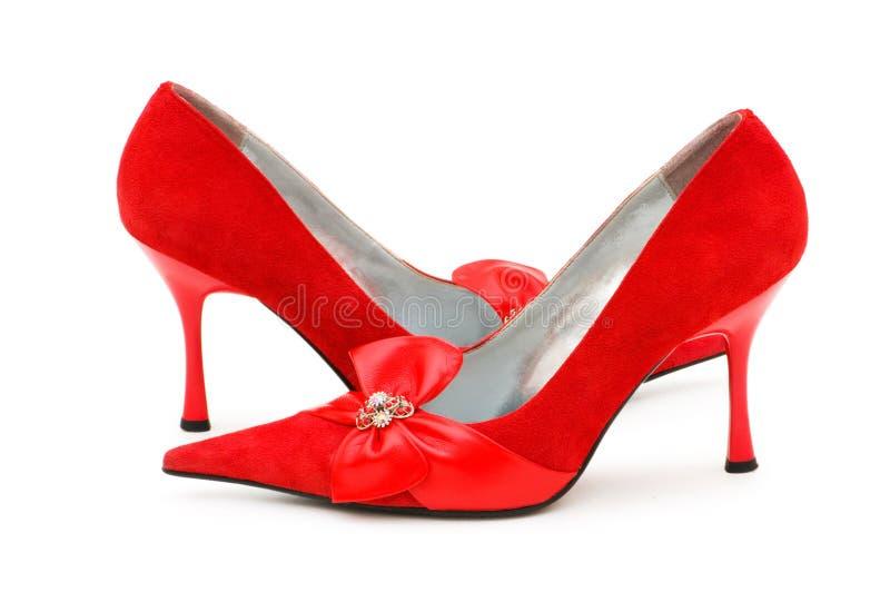 Vrouw schoenen geïsoleerdo o stock fotografie