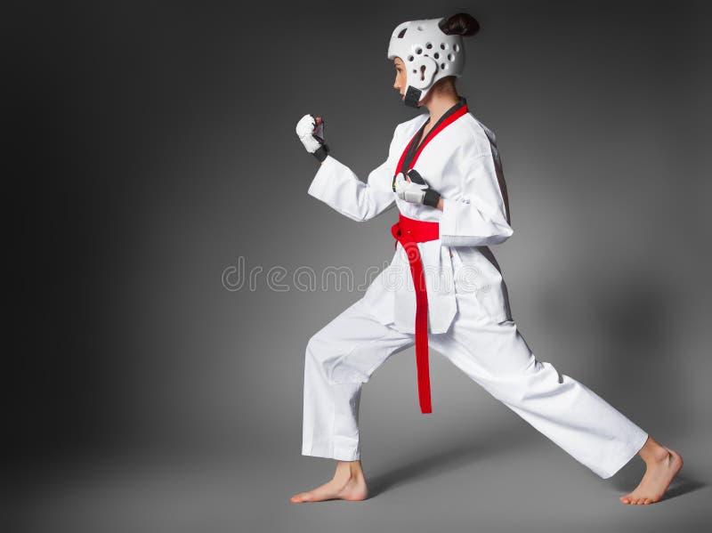 Vrouw in sporten kleding. close-up stock afbeelding