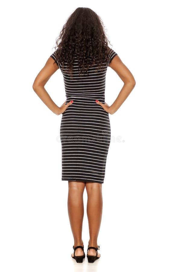 Vrouw in toevallige kleding royalty-vrije stock afbeelding