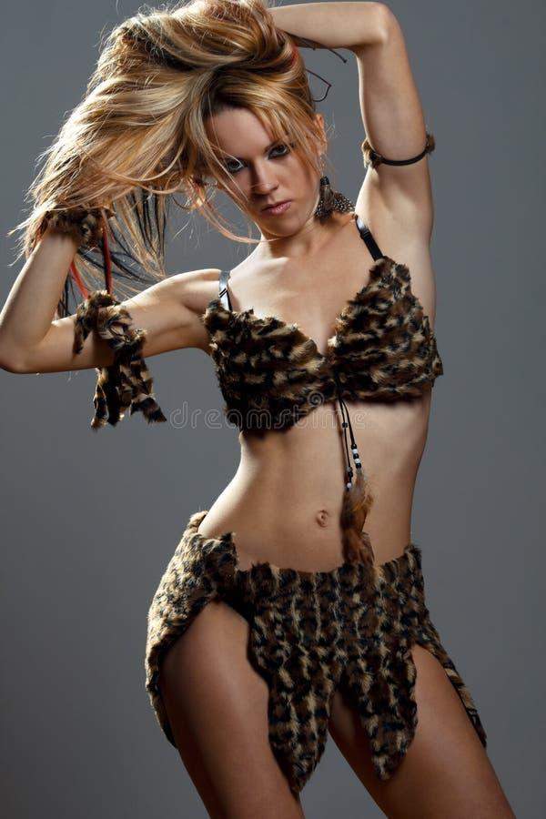 Vrouw uit de Amazone stock foto