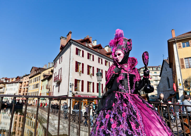 Vrouw in Venetiaans Kostuum royalty-vrije stock afbeeldingen