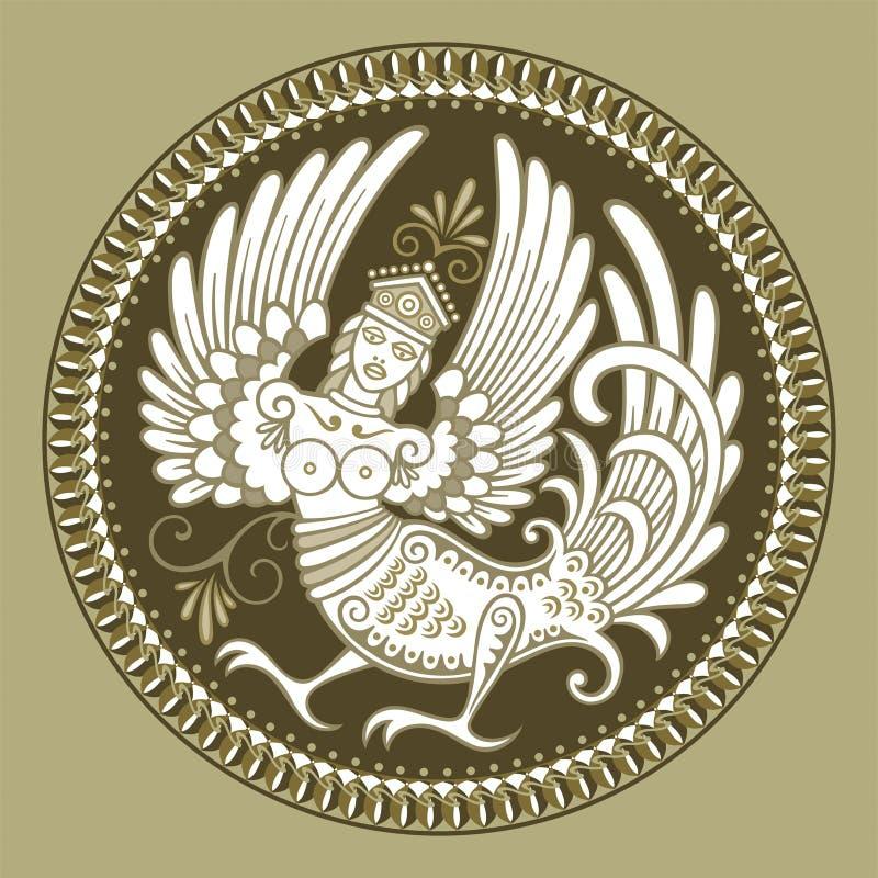Vrouw-vogel vector illustratie