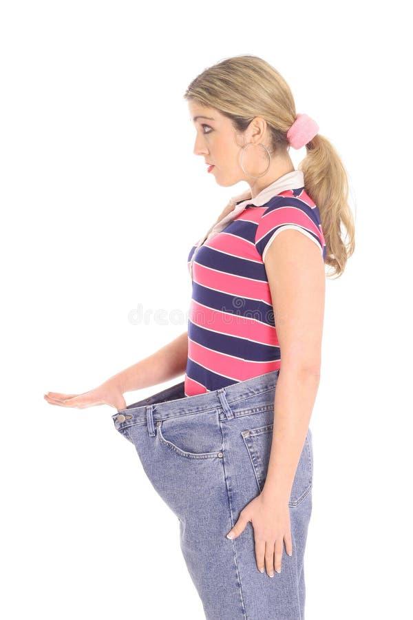 Vrouw weightloss van de kant stock fotografie