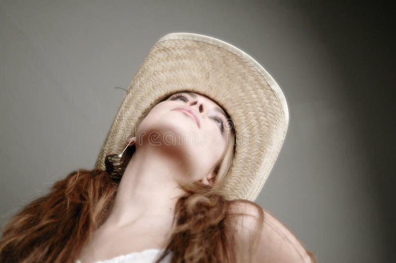 Vrouw In Wit Kleding-8 Stock Foto
