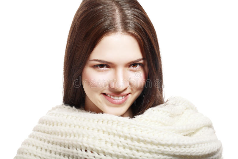 Vrouw wollen dragen stock afbeelding