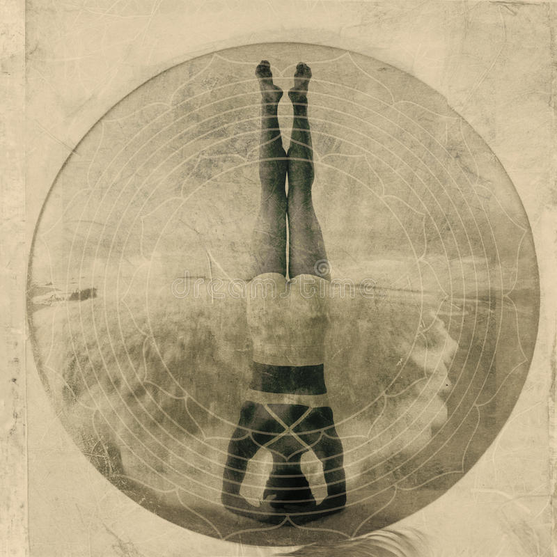 Yoga Headstand royalty-vrije stock fotografie