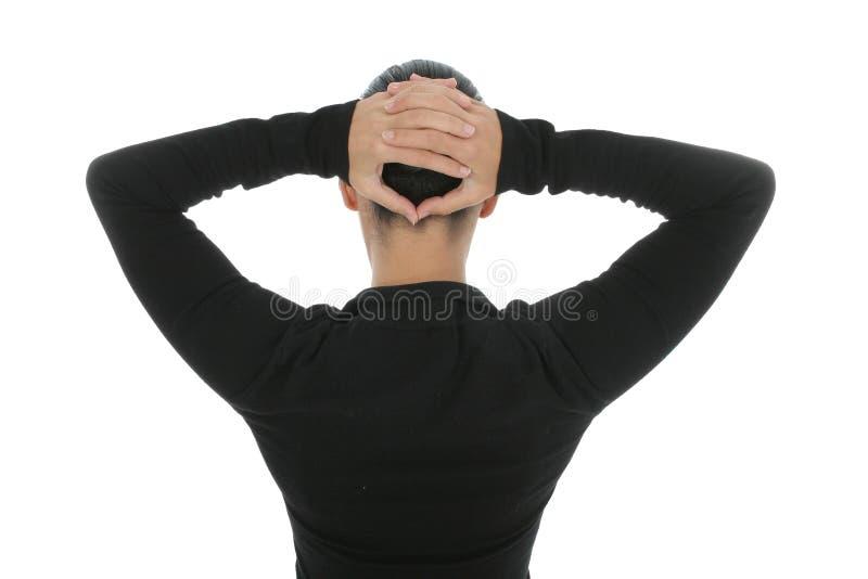 Vrouw in Zwarte stock foto's