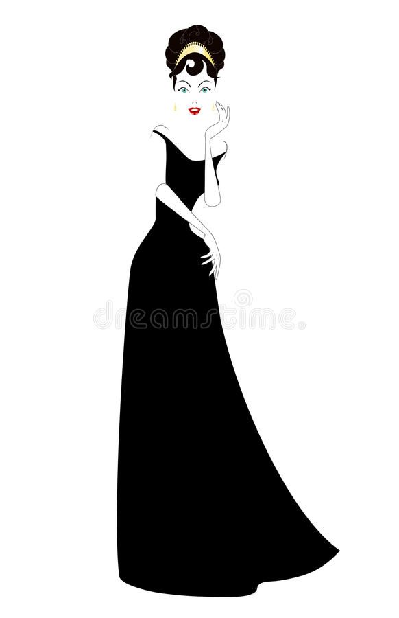 Vrouw in zwarte stock fotografie