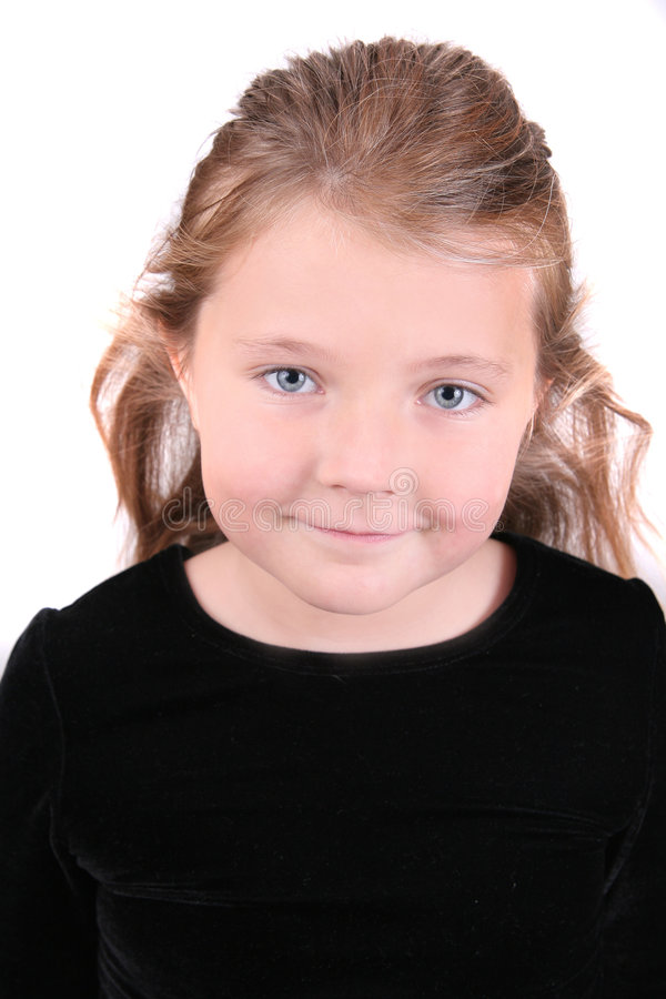 Vrouwelijk kind headshot stock afbeeldingen