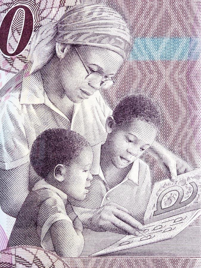 Vrouwelijk leraar en kinderenportret stock foto