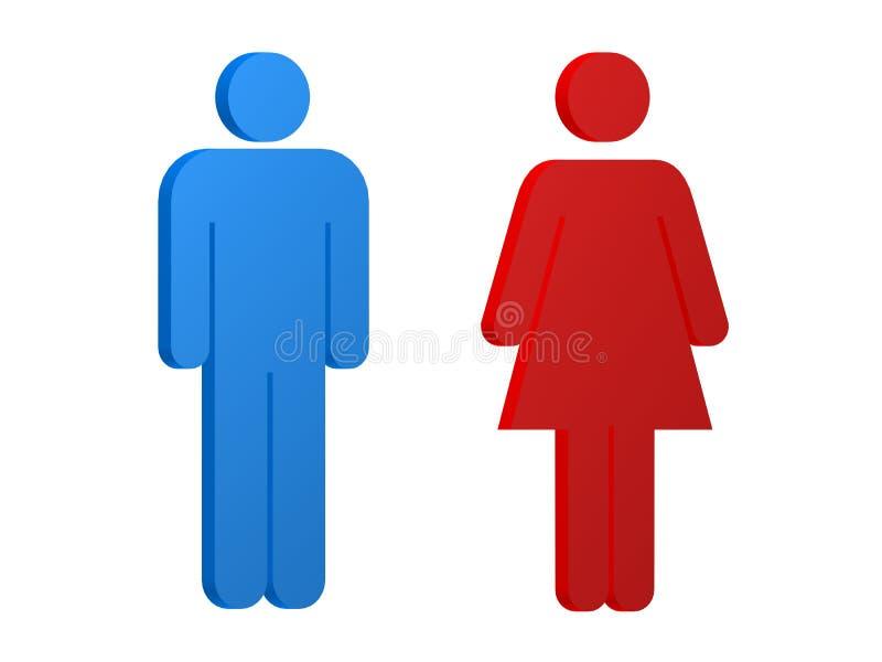 Vrouwelijk/mannelijk teken royalty-vrije illustratie
