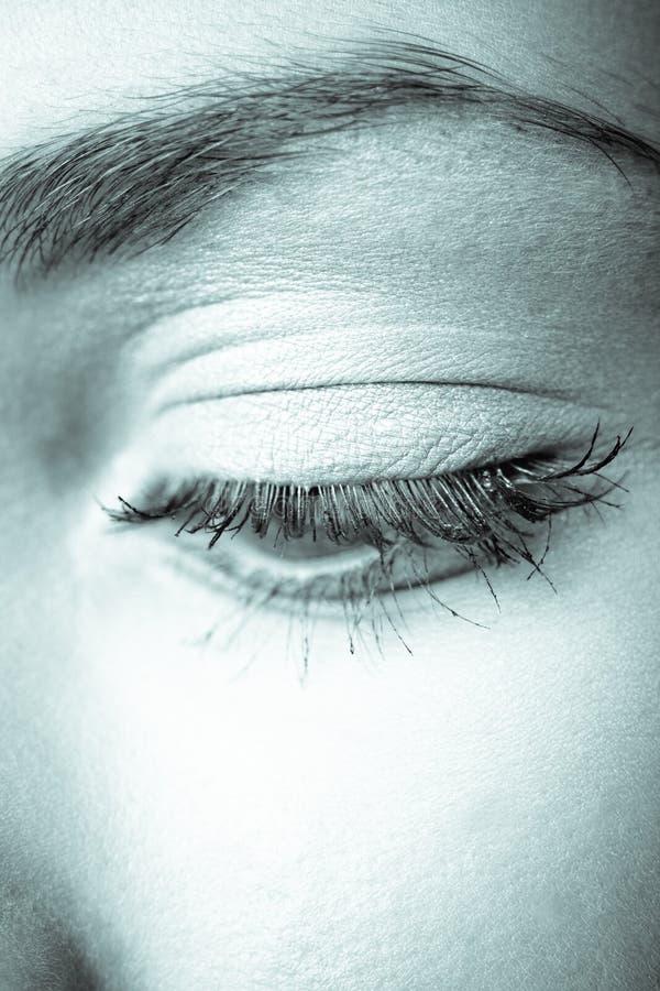 Vrouwelijk oog stock afbeeldingen