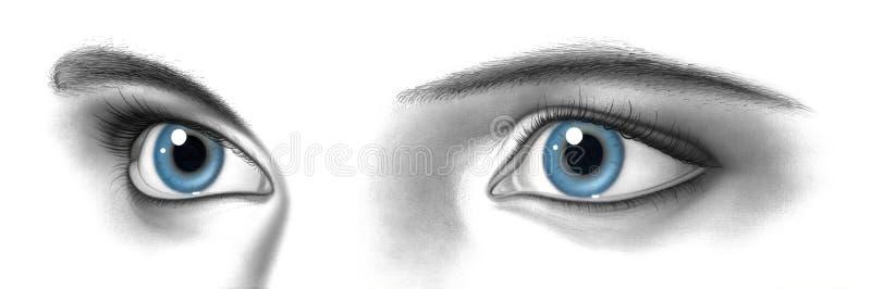 Vrouwelijk paar ogen royalty-vrije illustratie
