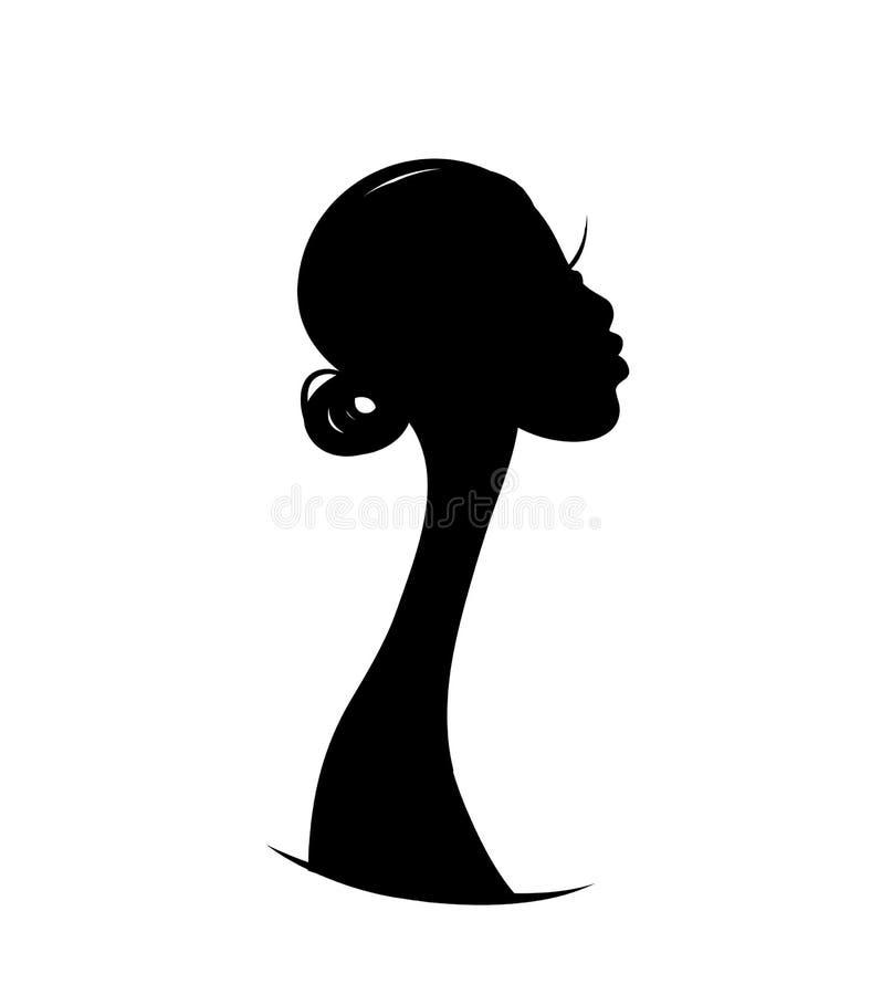 Vrouwelijk portret, schets voor uw ontwerp royalty-vrije illustratie
