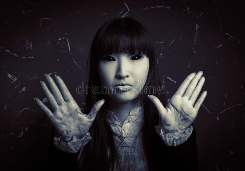 Vrouwelijk spook stock afbeelding