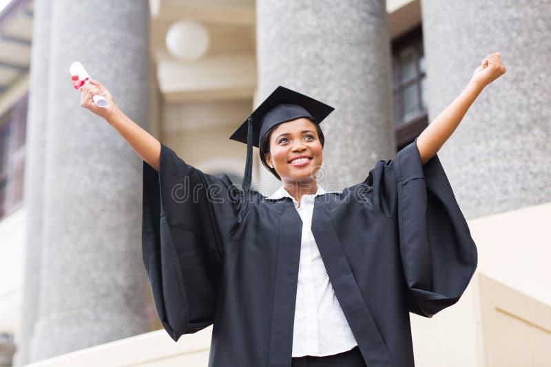 Vrouwelijk studentendiploma royalty-vrije stock foto