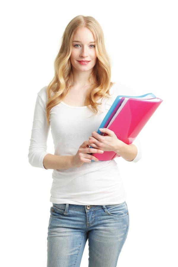 Vrouwelijk studentenportret stock afbeelding