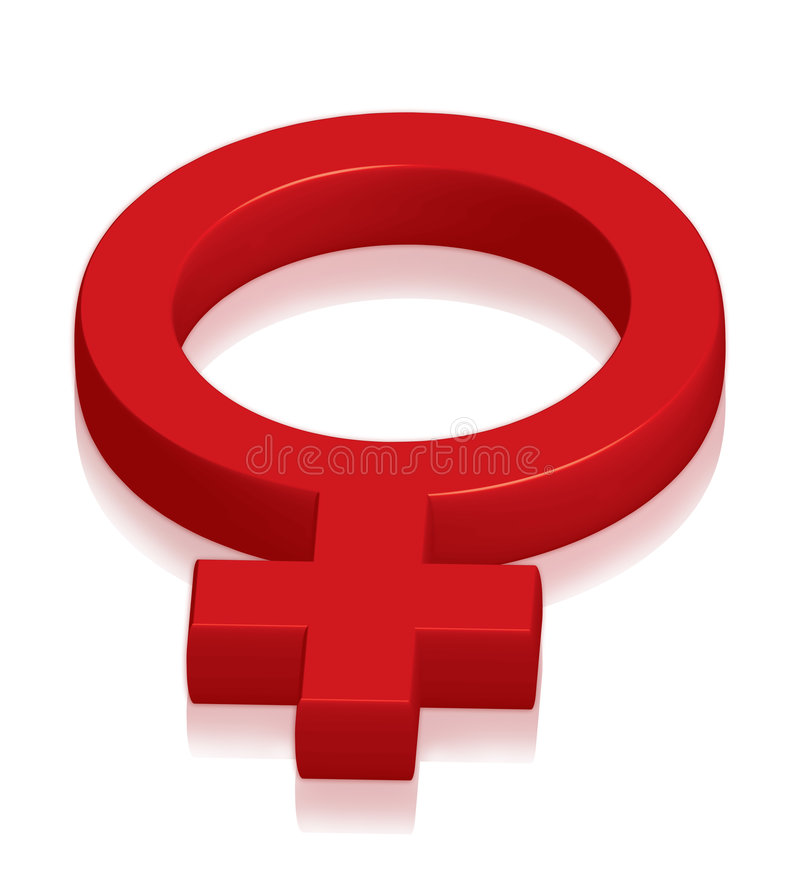 Vrouwelijk symbool royalty-vrije illustratie