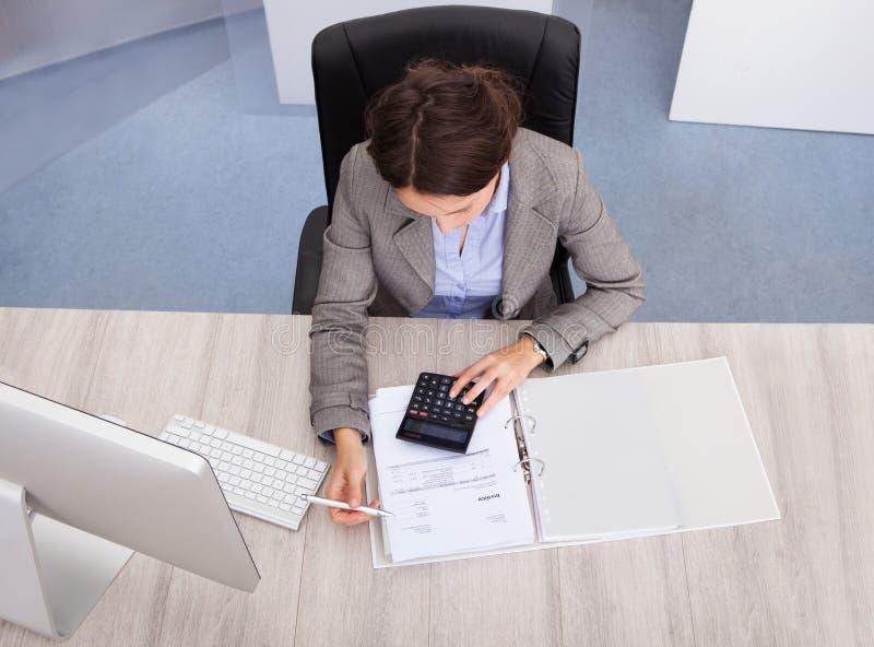 Vrouwelijke accountant stock fotografie