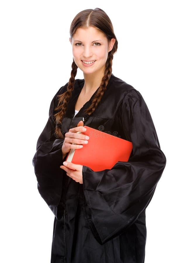 Vrouwelijke advocaat stock afbeeldingen