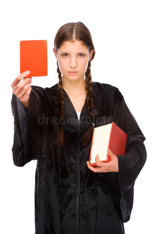 Vrouwelijke advocaat stock fotografie