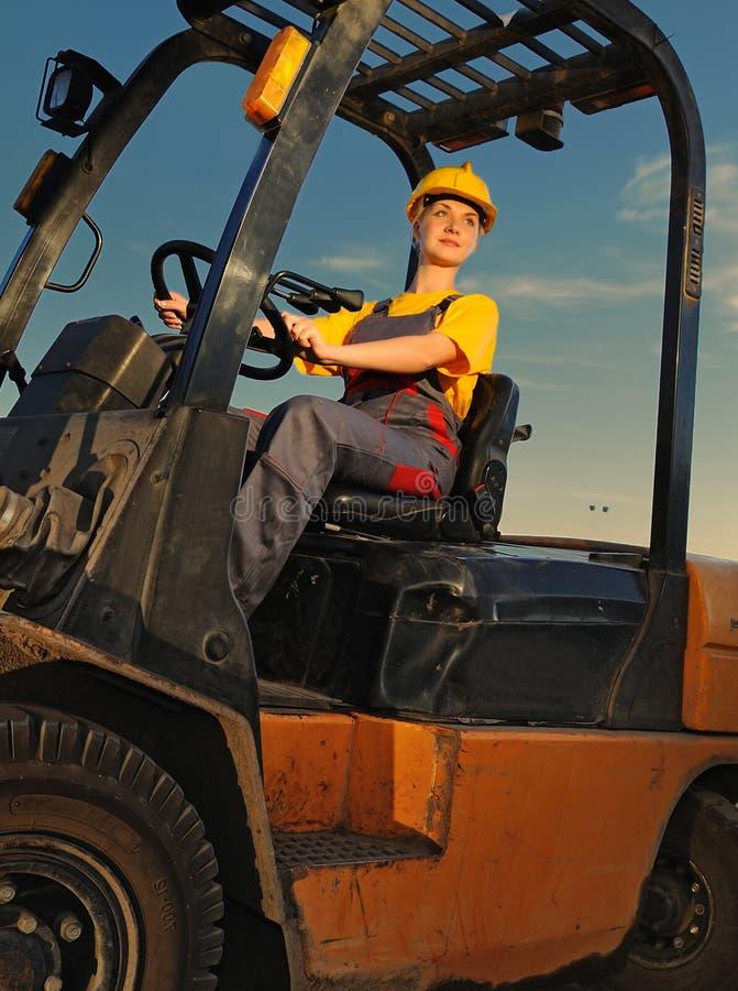 Vrouwelijke arbeider royalty-vrije stock fotografie