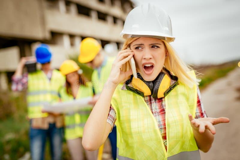 Vrouwelijke architect stock foto's