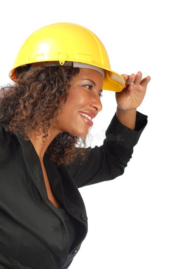 Vrouwelijke architect stock afbeeldingen