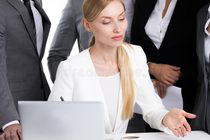 Vrouwelijke bedrijfsleider stock afbeelding