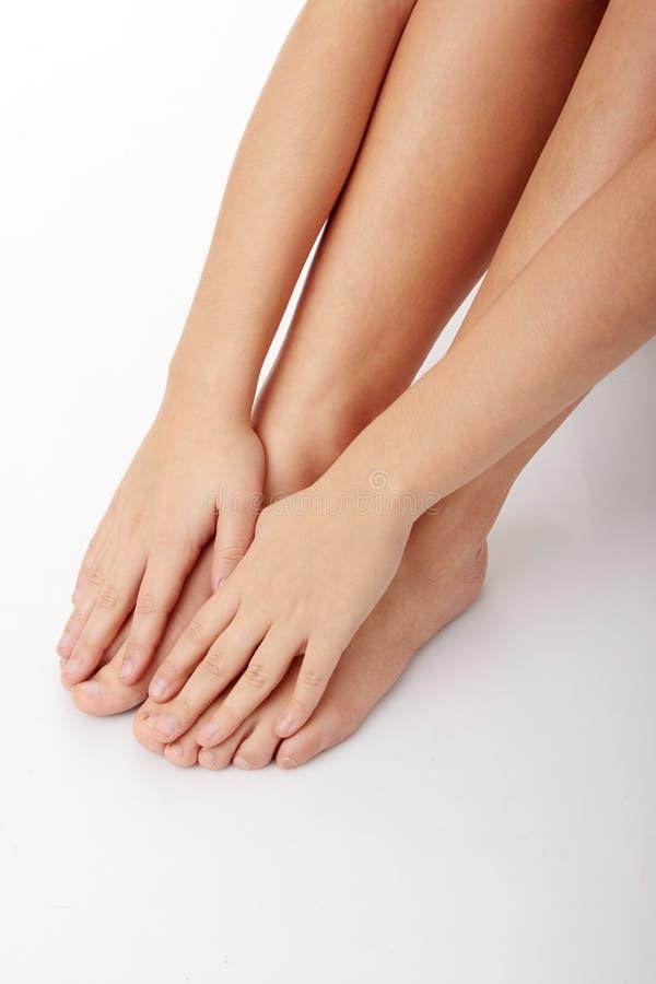 Vrouwelijke benen stock fotografie