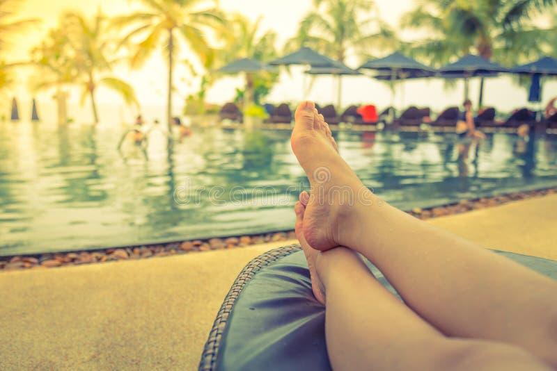 Vrouwelijke benen (Gefiltreerd beeldproces stock afbeeldingen