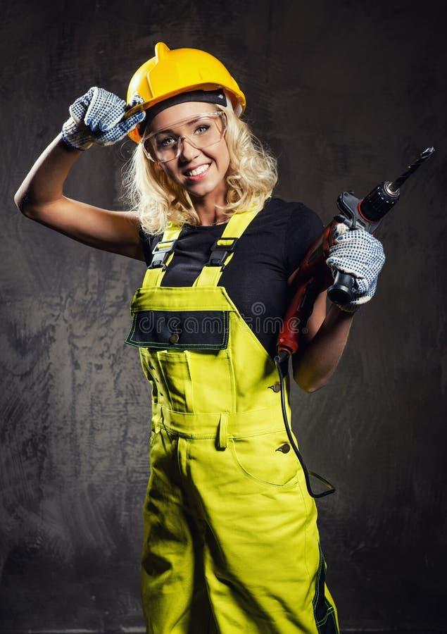 Vrouwelijke bouwvakker stock afbeelding
