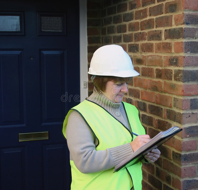 Vrouwelijke bouwvakker royalty-vrije stock afbeelding