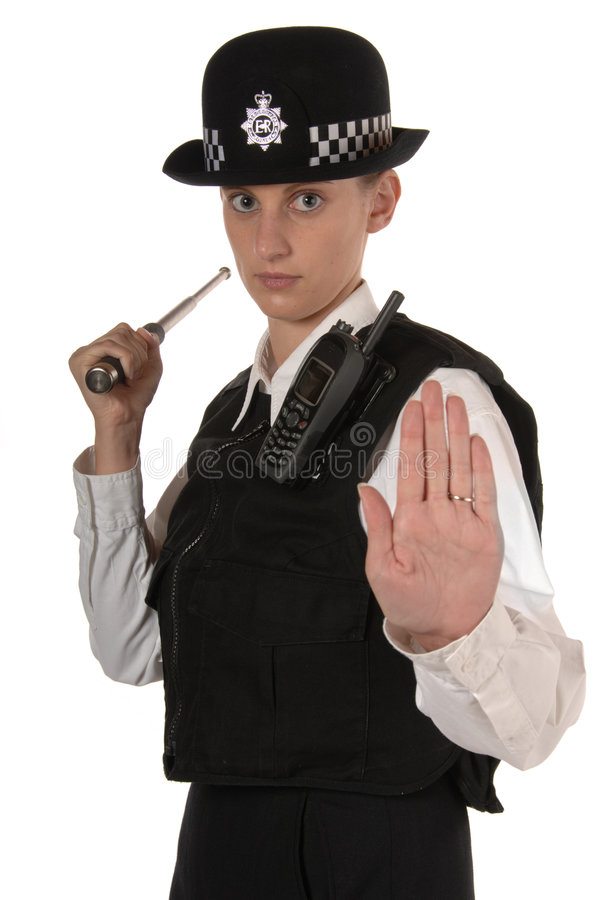 Vrouwelijke Britse Politieman royalty-vrije stock fotografie